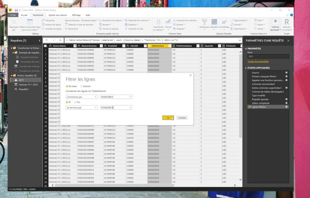En typant correctement les données, vous pouvez appliquer des filtres plus élaborés